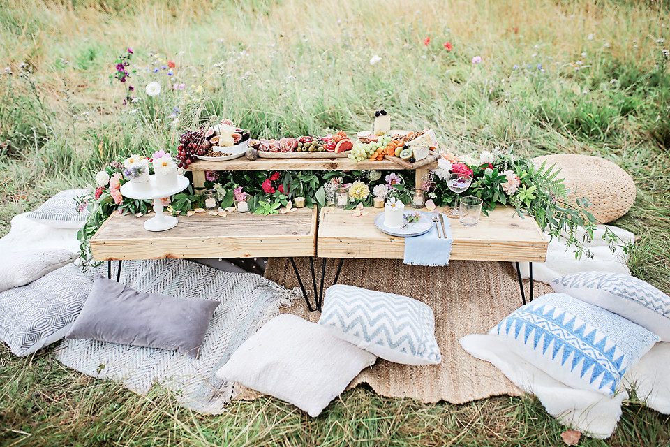 Rustic Luxe Low Level Tables