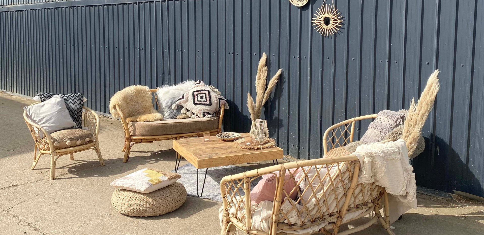 Event hire cane sofa chill out area .jpg