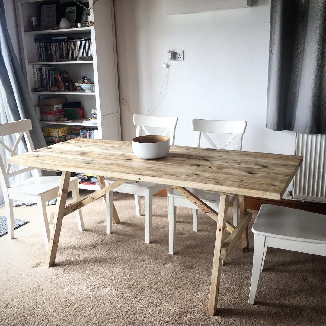 Bespoke reclaimed dining table