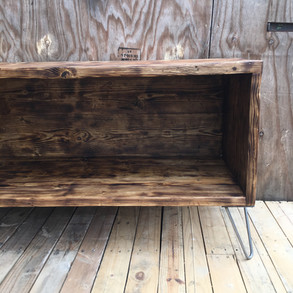Reclaimed Rustic Wooden Storage Bench