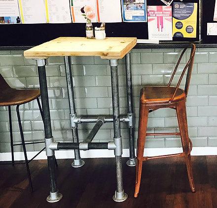 Reclaimed Industrial Leg Breakfast Bar Table