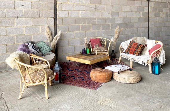 Boho cane chill out area hire .jpg