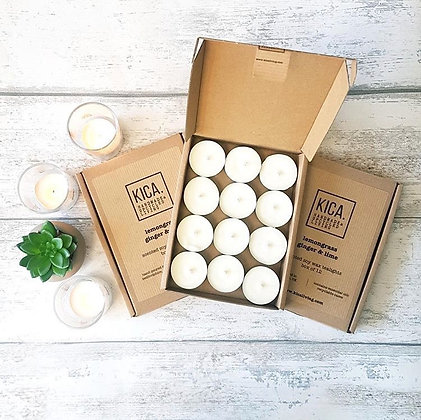 Kica Soy Wax Hand Poured Tealights Box of 12
