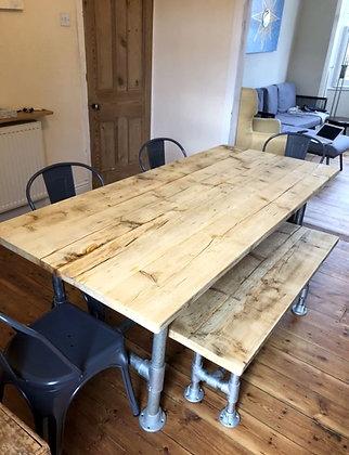 Reclaimed Industrial Leg Dining Table