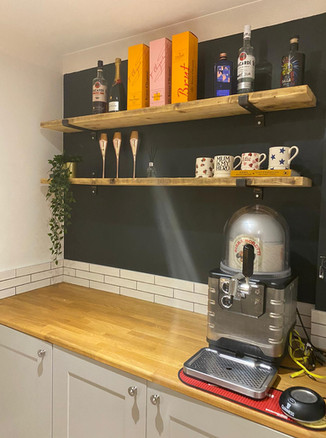Handmade industrial rustic kitchen shelving
