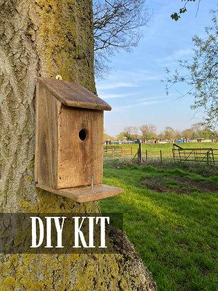 DIY Woodwork Craft Kit: Reclaimed Bird Box Kit