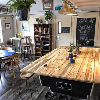 Rustic Reclaimed Cafe Pool Table Cover