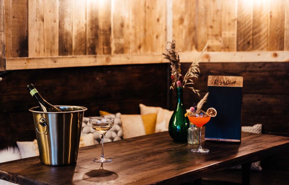 Ruby & Claret. Reclaimed, Bespoke Wine Bar & Bistro Refit By Nikkita Palmer Designs