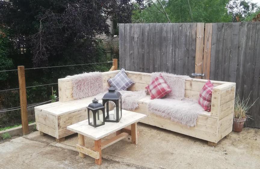 Handmade, Reclaimed outdoor sofas.