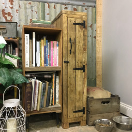 Rustic Wooden Tall Narrow Small Space Storage