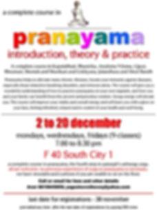 pranayama course december 2019 detailed