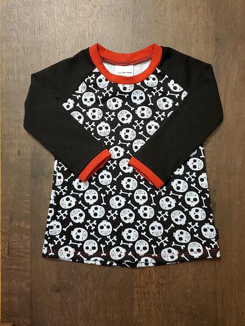 Long Sleeved Baby Skulls Raglan
