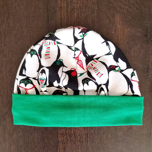 Holiday Penguins Beanie - 3-6M