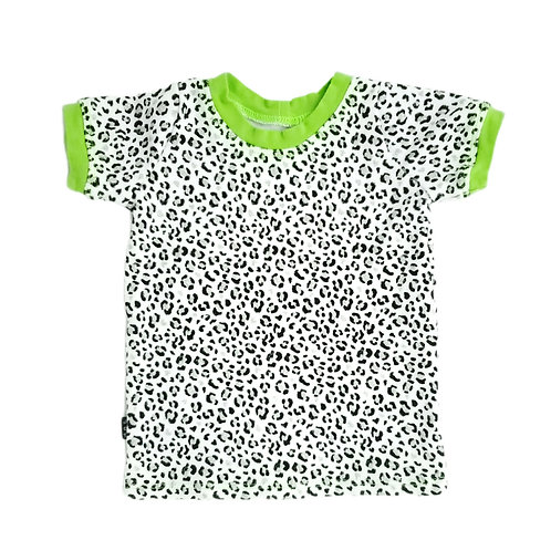 Lime Leopard Tee - 3-6m