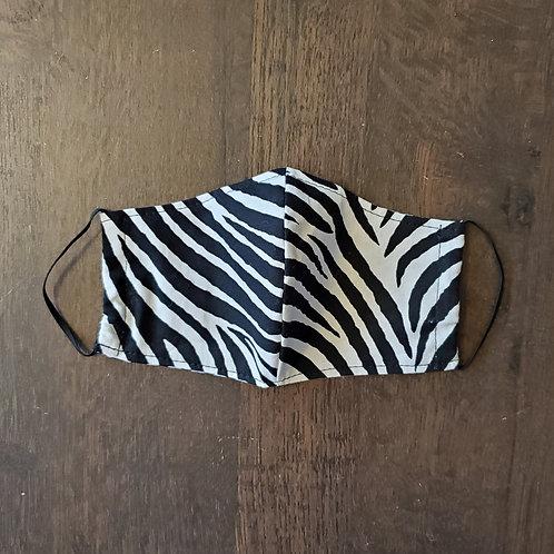 Black & White Zebra Mask