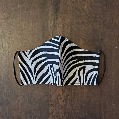 Black & White Zebra Mask