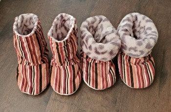 Striped Corduroy Booties