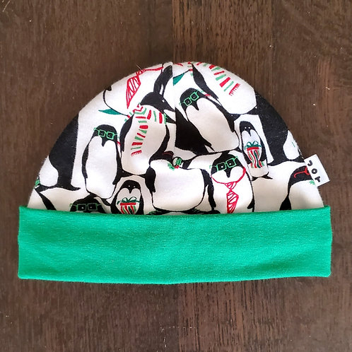 Holiday Penguins Beanie - 0-3M