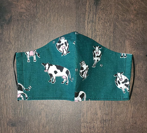 Green Cows Mask