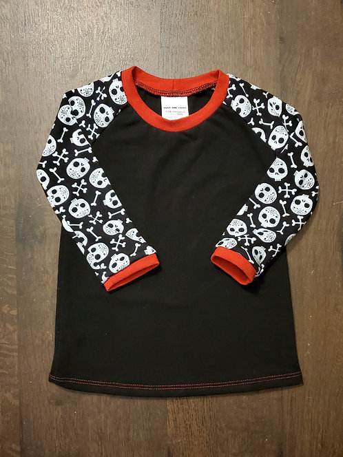 Long Sleeved Baby Skulls Raglan