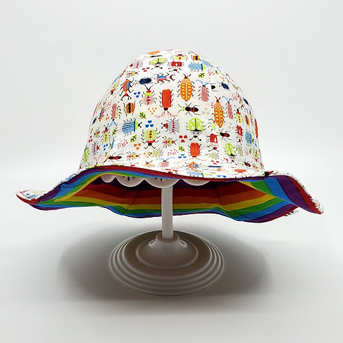 Rainbow Insects Reversible Sunny Hat