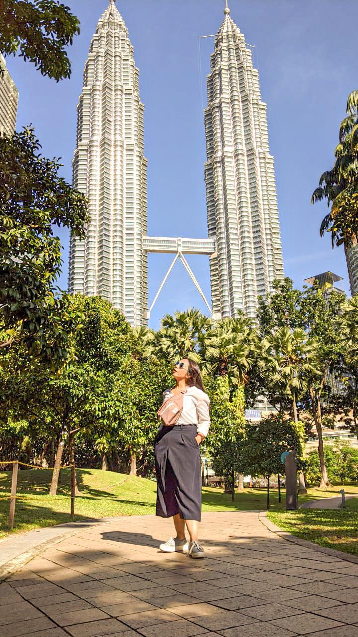 KLCC Park with Petronas Building Background