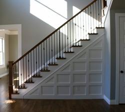 Wainscot stairs