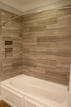 Basement shower-tub combo