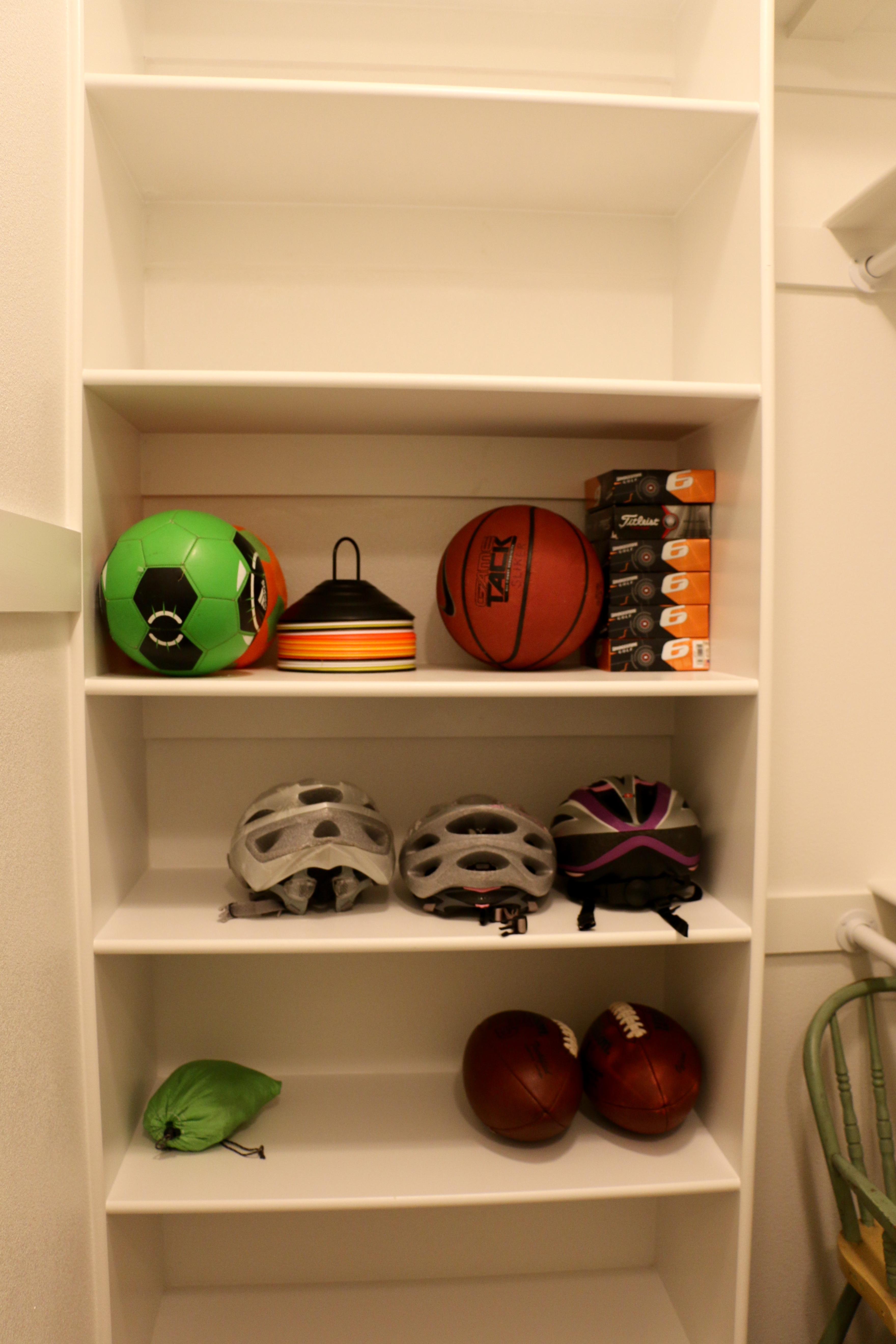 Sports storage closet