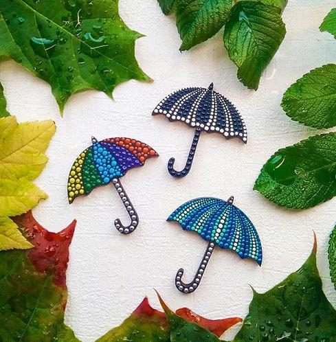 Брошка зонтики