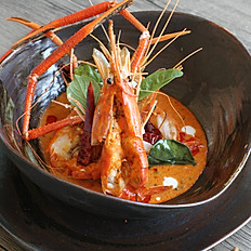 Shrimp with Red curry paste