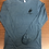 Thumbnail: Gary Hardt men's long sleeve denim tri blend with black print