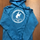 Thumbnail: Gary Hardt men's sapphire pullover hoodie with white print 2xl & 3xl