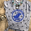 Thumbnail: WOCR women's star spangled crew royal glitter print