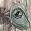 Thumbnail: WOCR women's military green high neck tank black glitter print