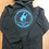 Thumbnail: Gary Hardt black pullover hoodie with blue glitter print
