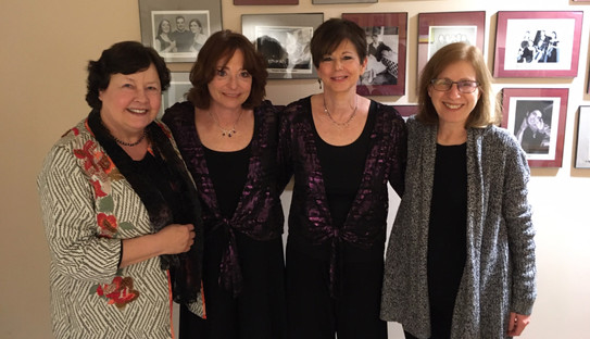 The Kaplan Duo with composers Hilary Tann (left) and Jane Leslie (right)