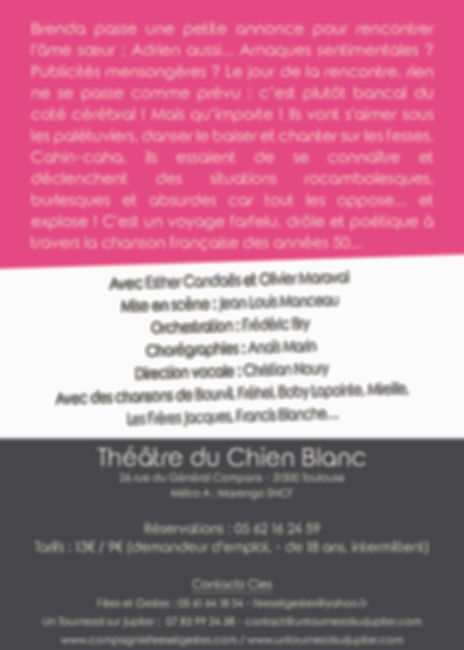 PUPA CHIEN BLANC Flyer 105x148 Verso imp