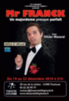 [comédie] Mr Franck, un majordome presque parfait / Cie Un Tournesol sur Jupiter / Olivier Maraval / Frédéric Bry / Aurélie Servera-Matis