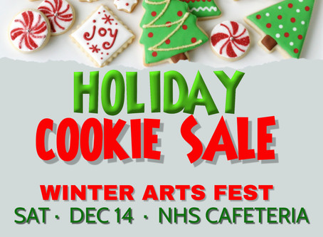 2019.12.14 Winter Arts Festival - Holiday Cookie Sale and Concesssions