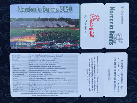NOW AVAILABLE -- 2020-21 Nordonia Bands Community Cards