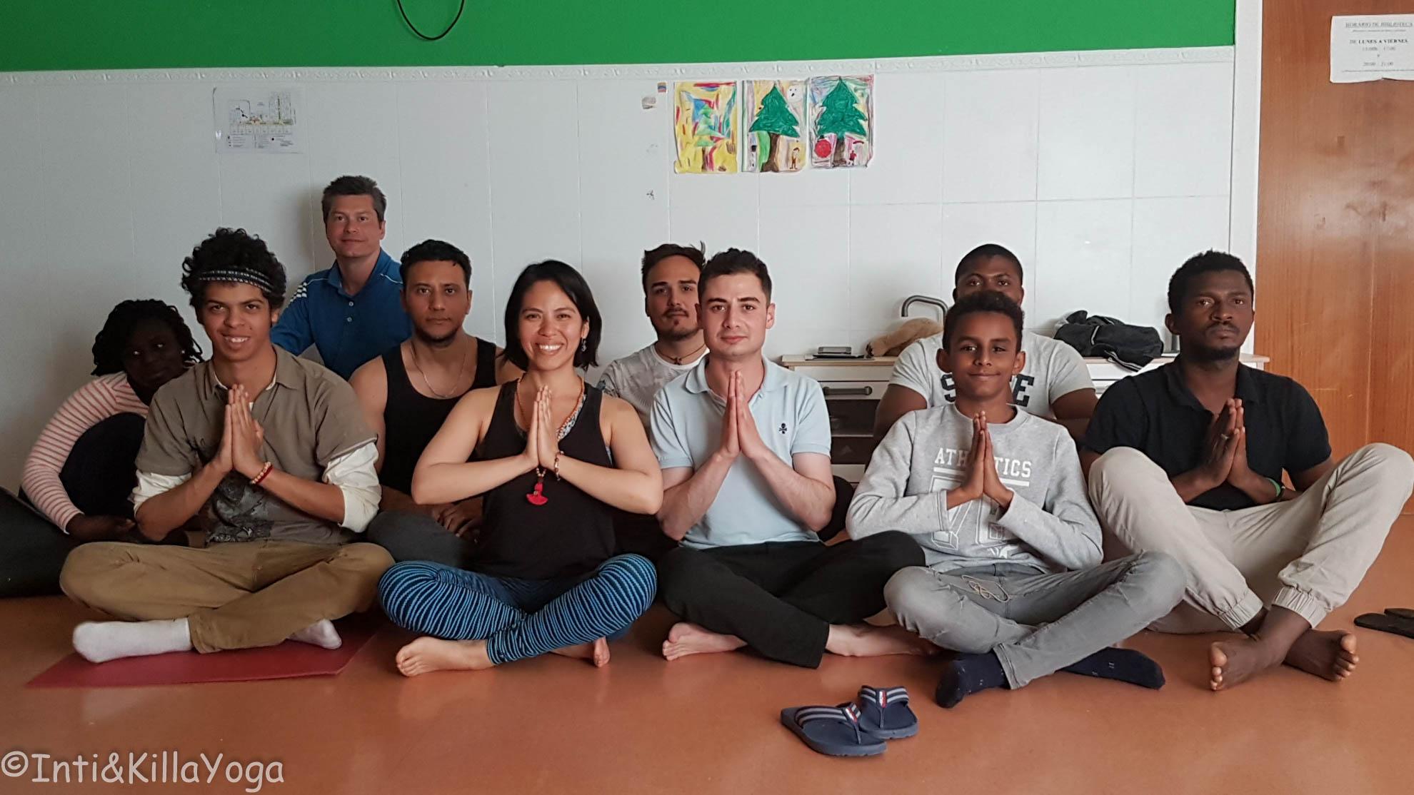 Yoga para refugiados (Madrid)