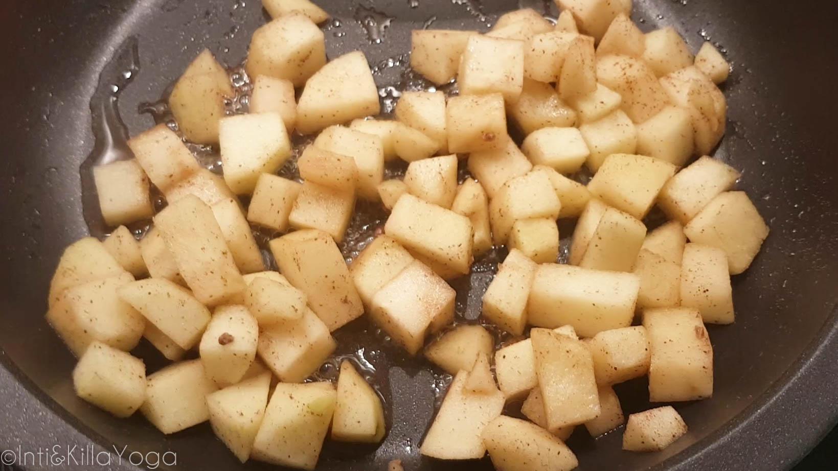 salteando las manzanas