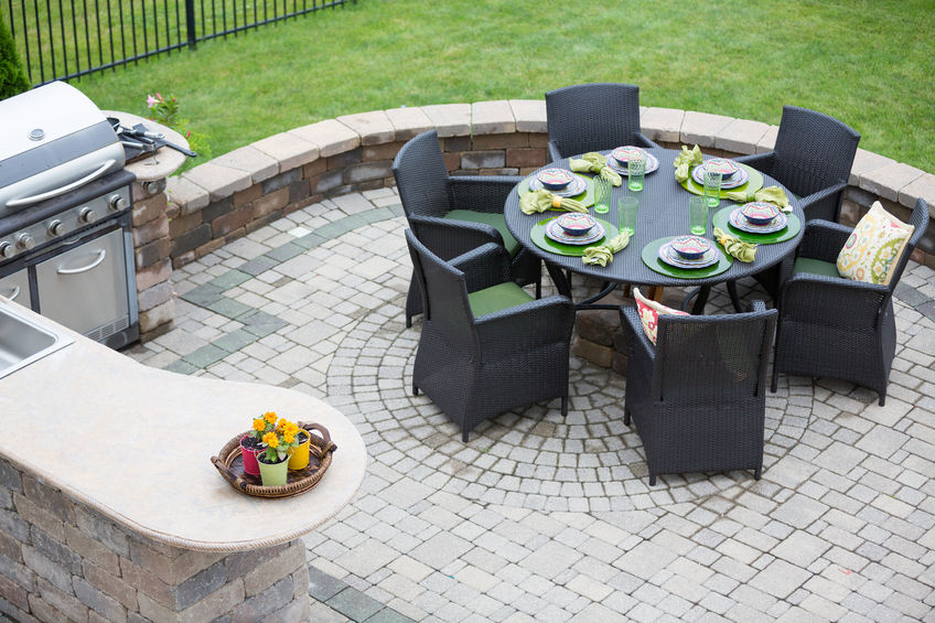 Cut Stone Patio
