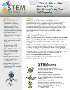 STEMbotics Afterschool Flyer Winter 2020