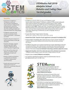 STEMbotics Afterschool Flyer fall 2019 A