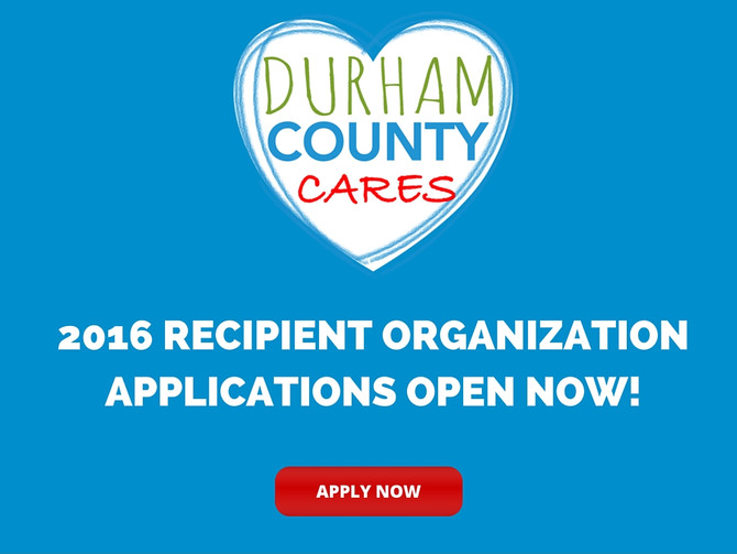 Applications for 2016 Durham County Cares Recipient Organizations Now Open!