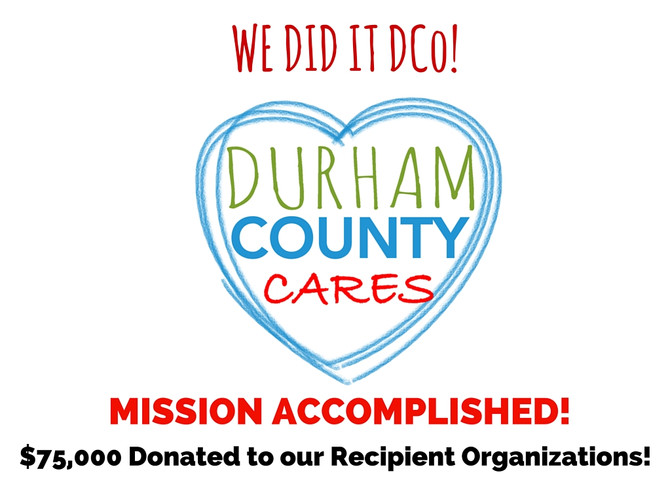 2015 Durham County Cares Campaign - MISSION ACCOMPLISHED