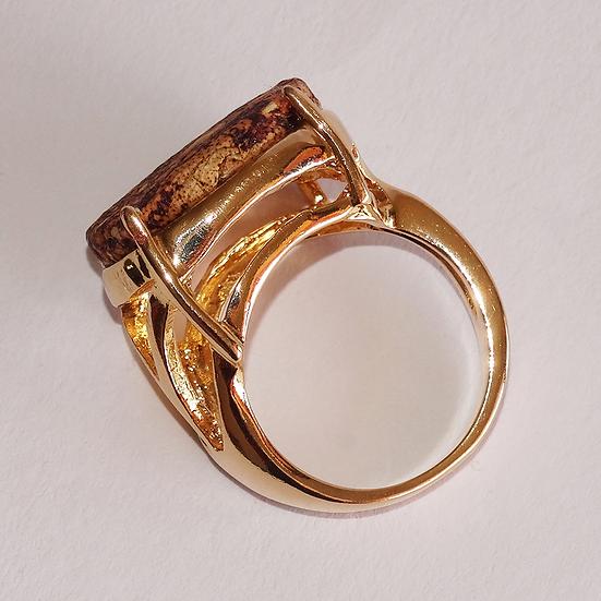 anel oval pequeno nº18