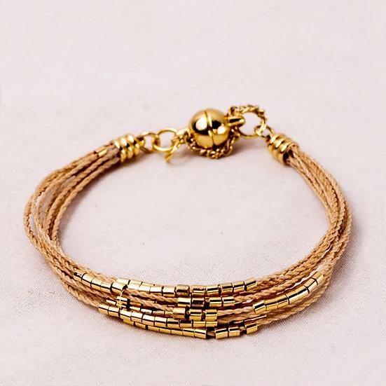 pulseira pontos de ouro